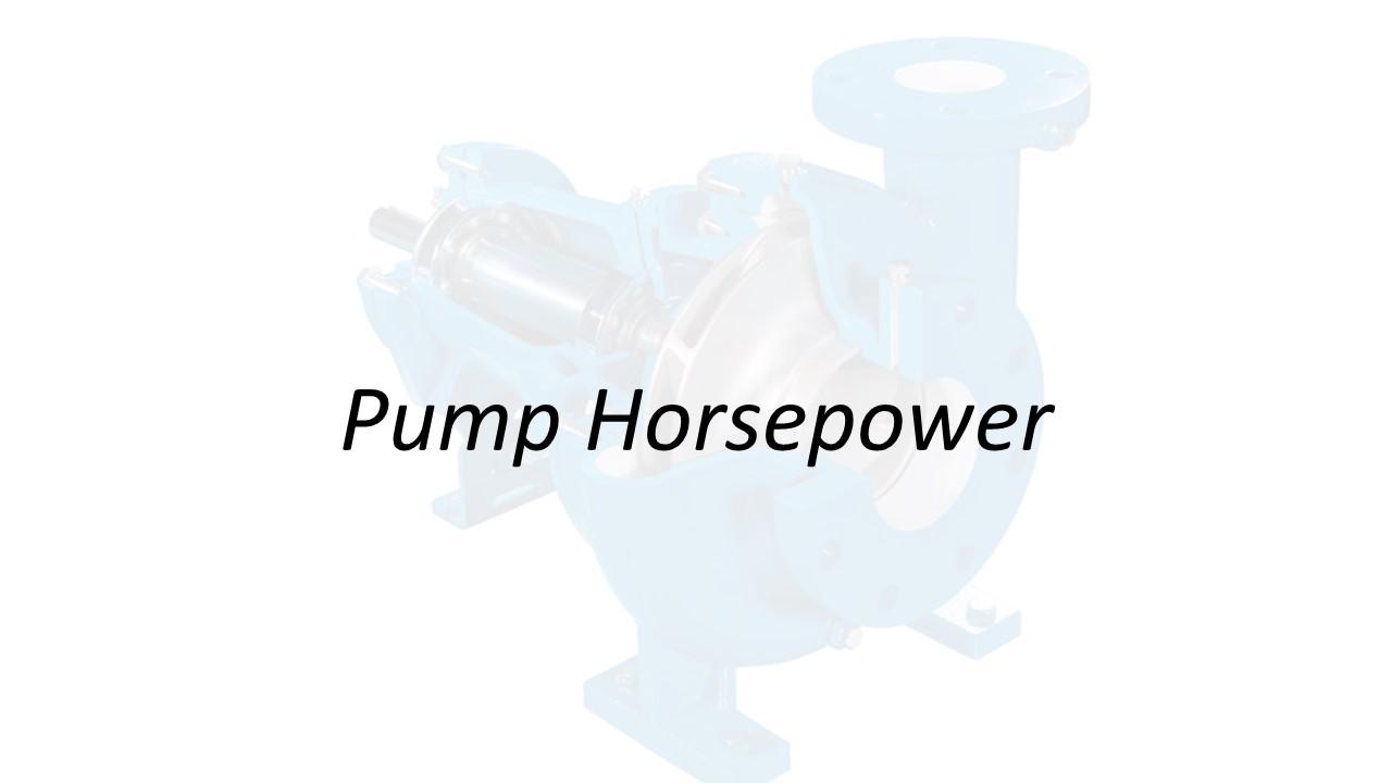 Applied Hydraulics | Pump Horsepower