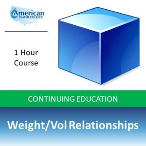 Weight-Volume Relationships